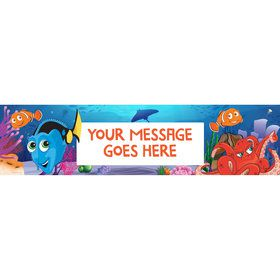 Just Keep Swimming Personalized Banner (Each)