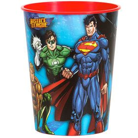 Justice League 16oz Plastic Favor Cup