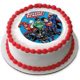 "Justice League 7.5"" Round Edible Cake Topper (Each)"