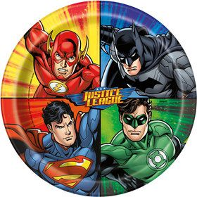 "Justice League 9"" Luncheon Plates (8 Count)"