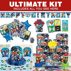 Justice League Birthday Party Ultimate Tableware Kit (Serves 8)
