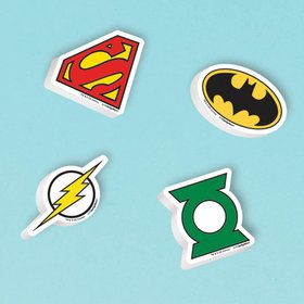 Justice League Eraser Favors (12 Count)