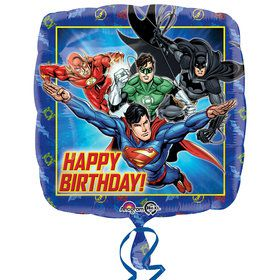 Justice League Happy Birthday Foil Balloon