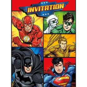 Justice League Invitations (8 Count)