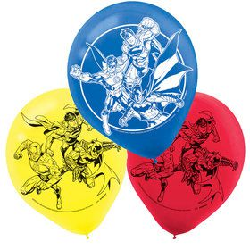 Justice League Latex Balloons (6 Count)