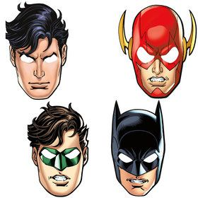 Justice League Masks (8 Count)