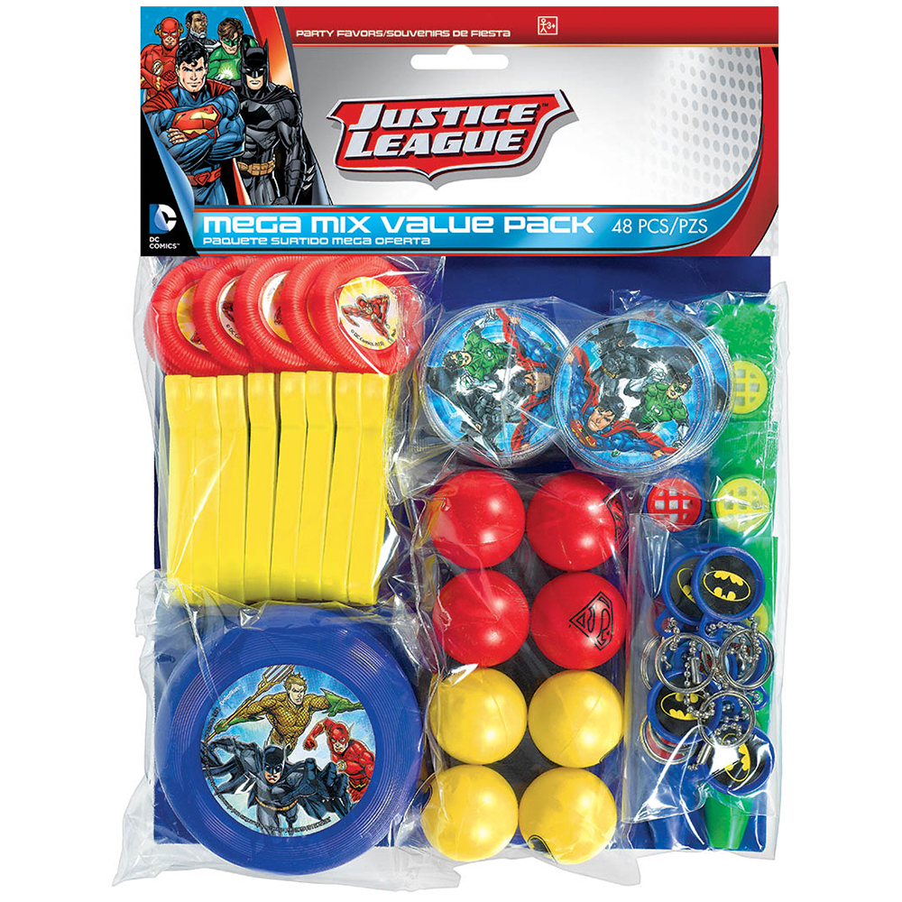 Justice League Mega Mix Favor Pack (For 8 Guests) BB396903