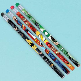 Justice League Pencil Favors (12 Count)