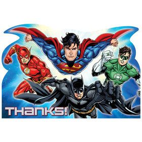Justice League Postcard Thank You Cards (8 Count)