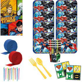 Justice League Standard Tableware Kit (Serves 8)