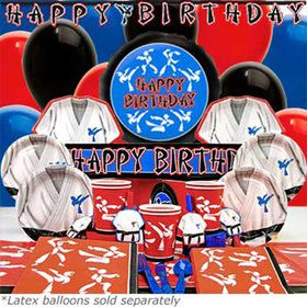 Karate Party Ultimate Birthday kit Serves 8 Guests