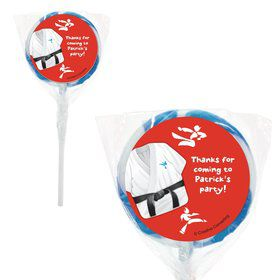 "Karate Personalized 2"" Lollipops (20 Pack)"