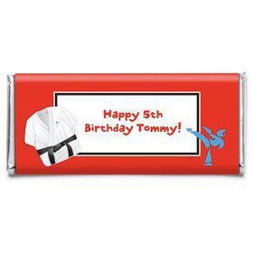 Karate Personalized Candy Bar Wrapper (Each)
