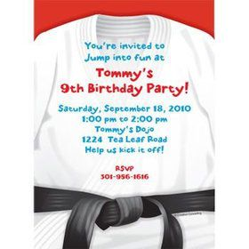 Karate Personalized Invitation (each)