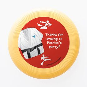 Karate Personalized Mini Discs (Set of 12)