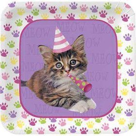 Kitty Cat Cake Plates (8-pack)