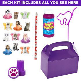 Kitty Cat Party Favor Kit (for 1 Guest)