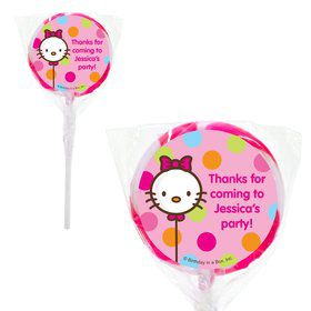 "Kitty Personalized 2"" Lollipops (20 Pack)"