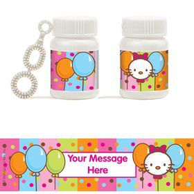 Kitty Personalized Bubbles (18 Pack)