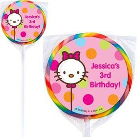 Kitty Personalized Lollipops (pack of 12)