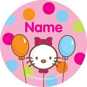 Kitty Personalized Mini Stickers (Sheet of 20)