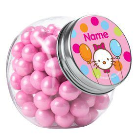 Kitty Personalized Plain Glass Jars (12 Count)
