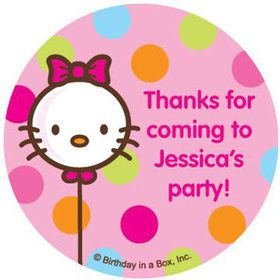 Kitty Personalized Stickers (sheet of 12)