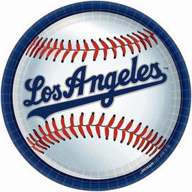 "LA Dodgers Plates, 9"" (18 Pack)"