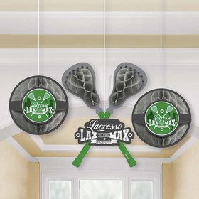 Lacrosse Honeycomb Decorations (3 Count)