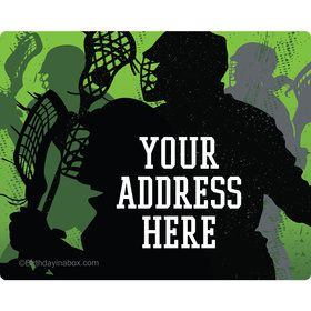 Lacrosse Personalized Address Labels (Sheet of 15)