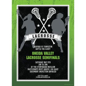 Lacrosse Personalized Invitation (Each)