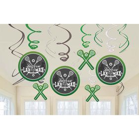 Lacrosse Swirl Decorations (12 Count)