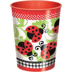 Lady Bug 16oz Plastic Cup (Each)