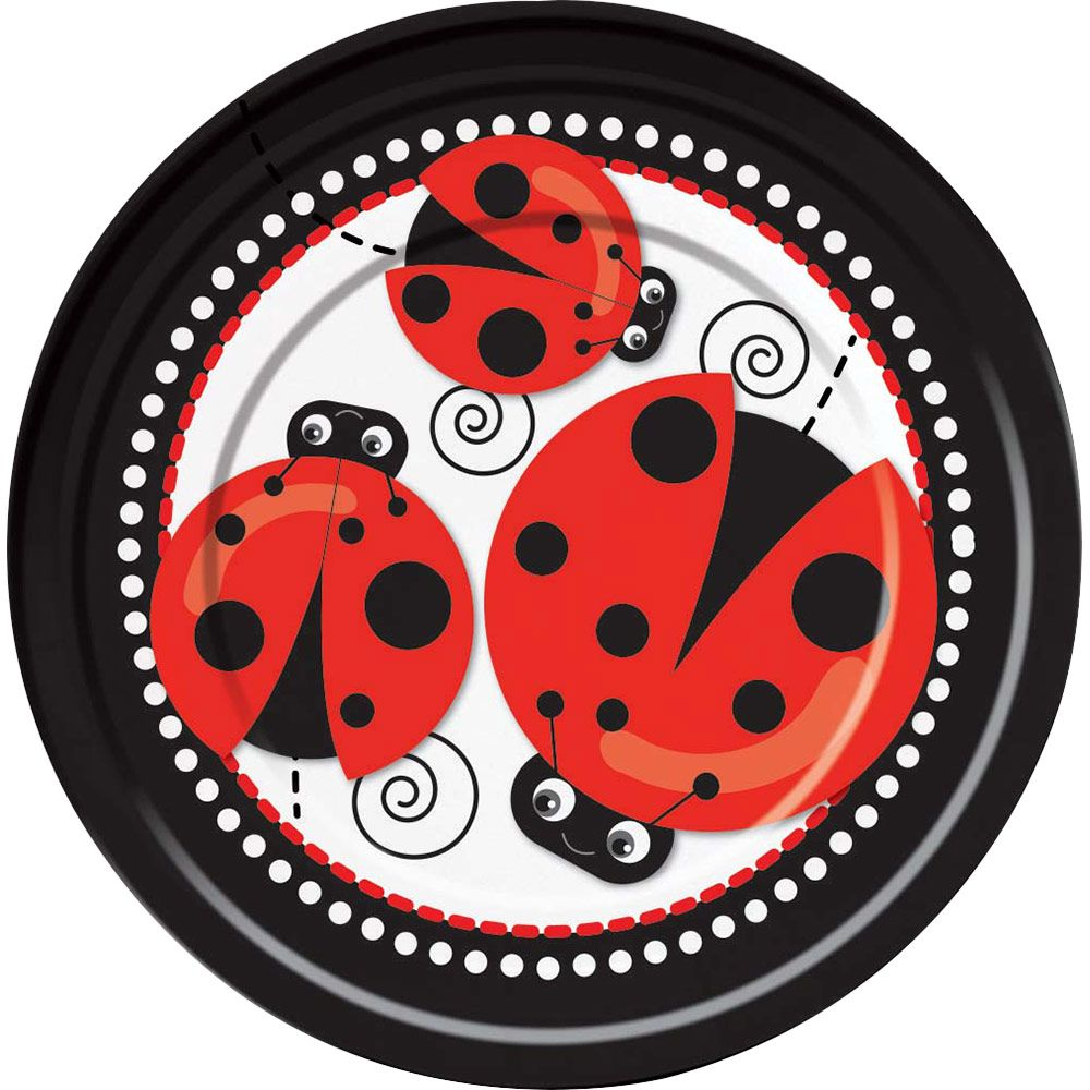 "Ladybug 9"" Luncheon Plates (8 Pack) BB72929"