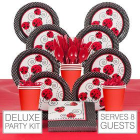 Ladybug Birthday Party Deluxe Tableware Kit Serves 8
