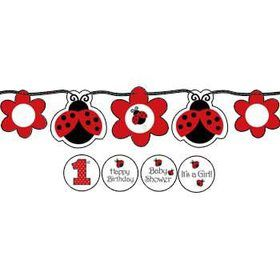 Ladybug Party Banner (each)