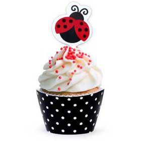 Ladybug Party Cupcake Wraps With Picks (12-pack)