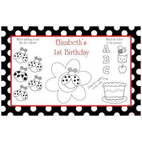 Ladybug Party Personalized Activity Mats (8-Pack)