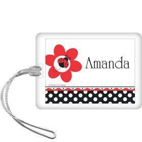 Ladybug Party Personalized Bag Tag (each)