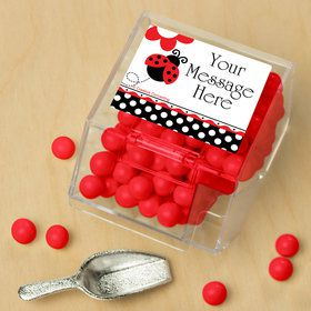 Ladybug Party Personalized Candy Bin with Candy Scoop (10 Count)