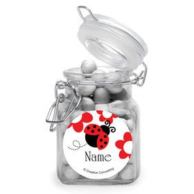 Ladybug Party Personalized Glass Apothecary Jars (12 Count)
