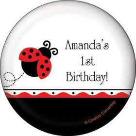 Ladybug Party Personalized Magnet (each)