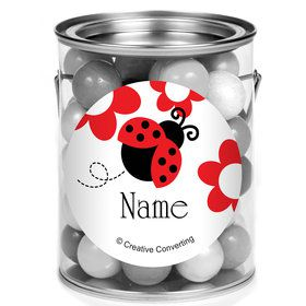 Ladybug Party Personalized Mini Paint Cans (12 Count)