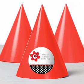 Ladybug Party Personalized Party Hats (8 Count)