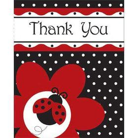 Ladybug Party Thank You Notes (8-pack)