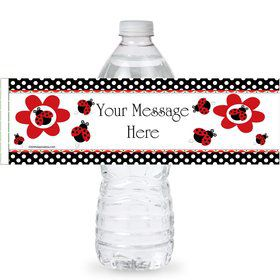 Ladybug Personalized Bottle Labels (Sheet of 4)