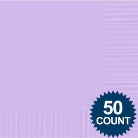 Lavender 2-Ply Luncheon Napkins, 50 ct.