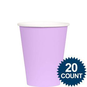 Lavender 9 oz. Paper Cups, 20 ct.