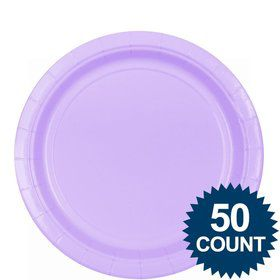 "Lavender 9"" Paper Luncheon Plates (50 Pack)"