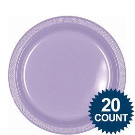 "Lavender 9"" Plastic Luncheon Plates (20 Pack)"